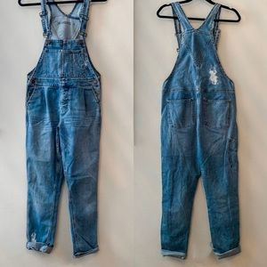 BLANK NYC distressed overalls